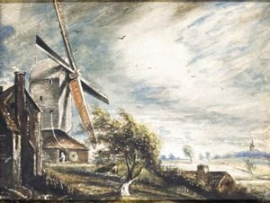 John Constable - A Mill Near Colchester