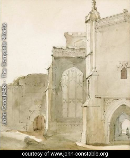 John Constable - East Bergholt Church From The South