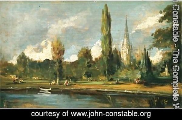 John Constable - A View Of Salisbury Cathedral