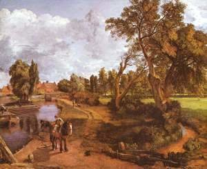 John Constable - The house of the admiral in Hampstead