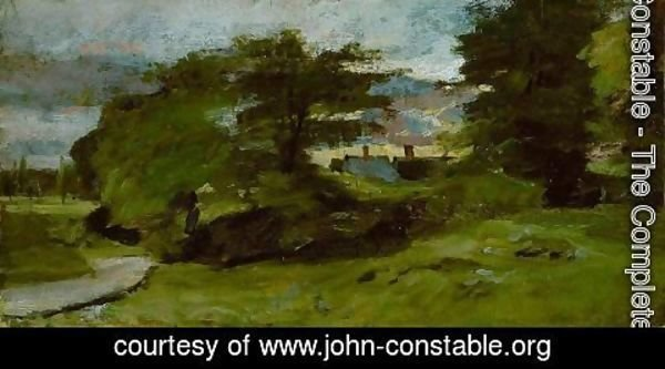 John Constable - Landscape with Cottages