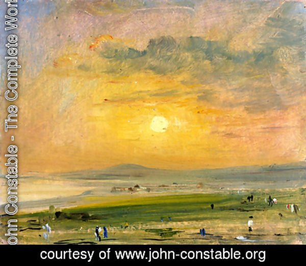 John Constable - Shoreham Bay, Evening Sunset