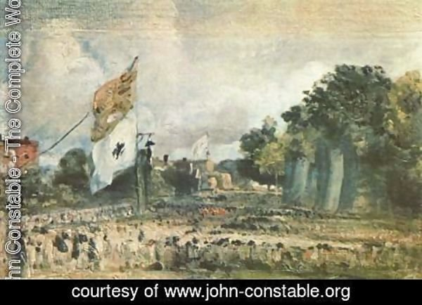 John Constable - Celebration of the General Peace of 1814 in East Bergholt