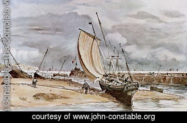 John Constable - Fokstone harbour