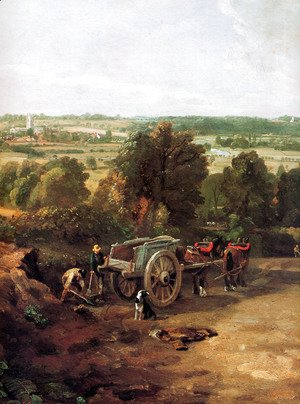 John Constable - Stour valley and Dedham village