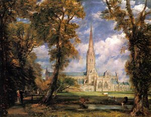John Constable - Salisbury Cathedral from the Bishop's Grounds c. 1825