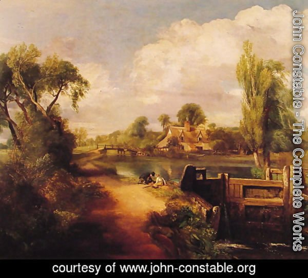 John Constable - Landscape With Boys Fishing