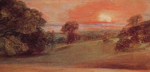Evening Landscape At East Bergholt