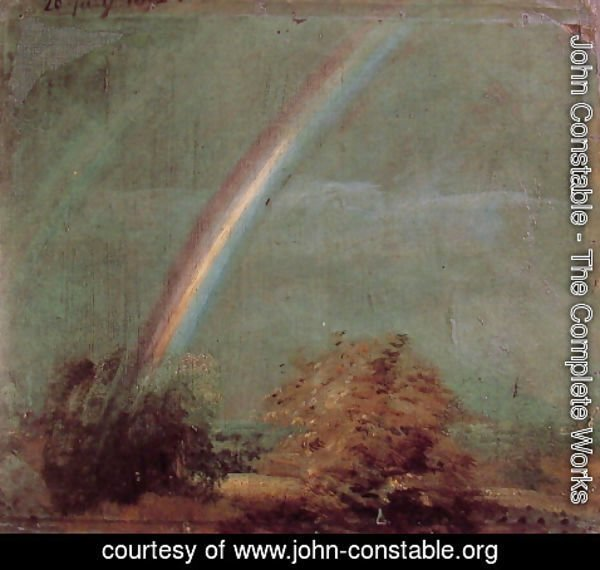 John Constable - Landscape With A Double Rainbow