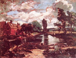 John Constable - Flatford Mill from a Lock on the Stour c. 1811