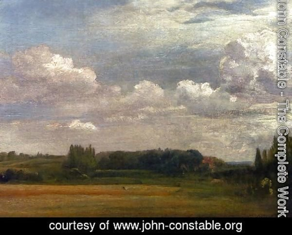 John Constable - View Towards The Rectory  From East Bergholt House