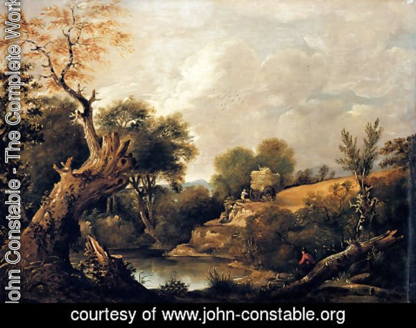 John Constable - The Harvest Field