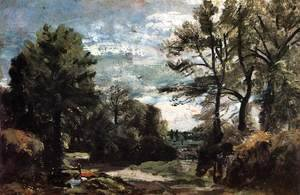 John Constable - A Lane near Flatford 1810-11
