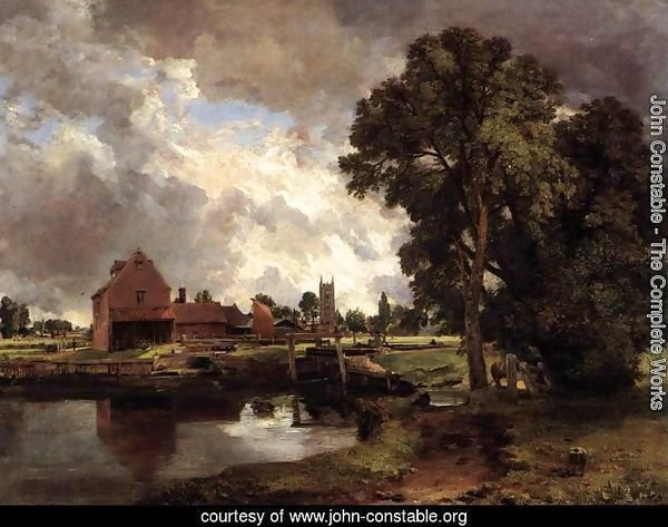 Dedham Lock and Mill c. 1818