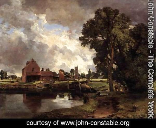 John Constable - Dedham Lock and Mill c. 1818