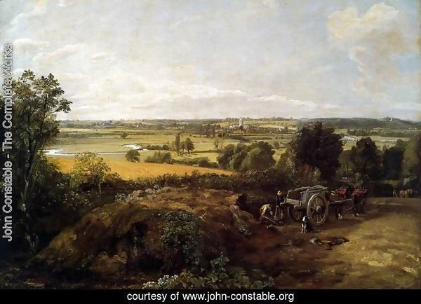 The Stour-Valley with the Church of Dedham 1814