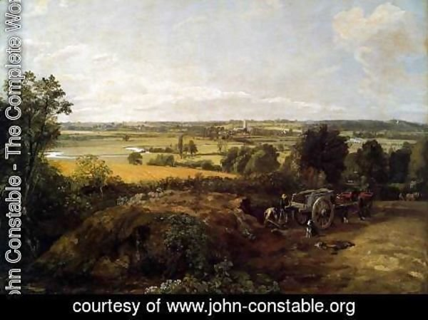 John Constable - The Stour-Valley with the Church of Dedham 1814