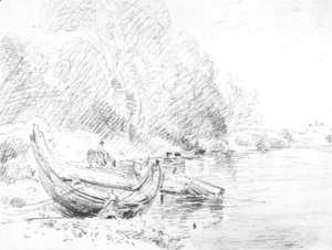 View on the River Severn at Worcester 1835